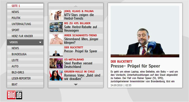 Bild App on Smart TV