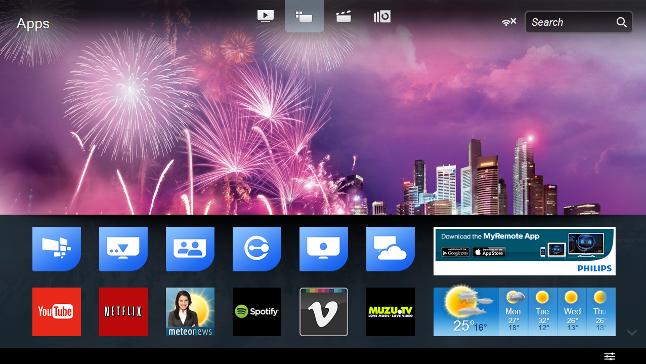 Smart TV homepage